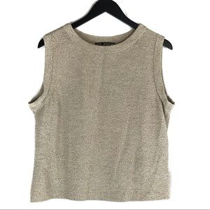 St John Sport Wool Blend Sleeveless Top